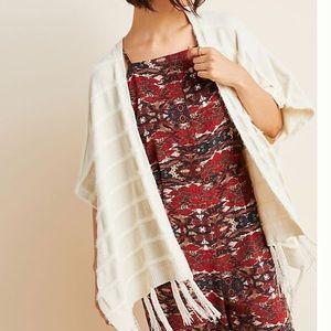 Anthropologie Miette Cozy Kimono Poncho Wrap